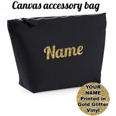 ADD YOUR NAME Canvas Accessory Bag