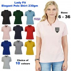 Ladies Elegant Fitted Polo 230gm