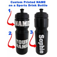Personalised Custom Printed Drink Water Sport Bottle Reusable School Gym Bike