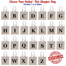 Initial Tote Shopper Bags