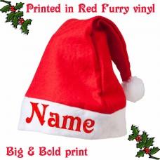 Add Your NAME Santa Hat *FREE DELIVERY*